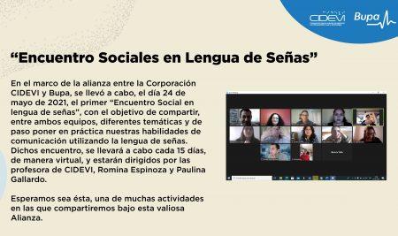 Encuentro Sociales en Lengua de Señas