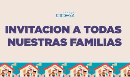 Invitación a todas nuestras familias